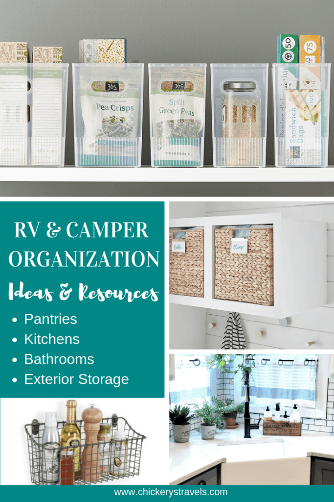 Looking for tips and ideas on RV storage and organization?  Wondering how to keep your camper organized? Check out these ideas and resources to help you create space out of thin air.
