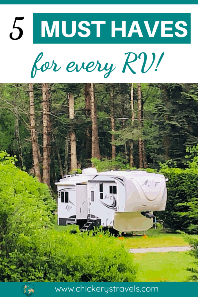 These five items are so important for any RV that we can't believe they don't come with them. The list includes safety and comfort upgrades to make your next trip to the campground a success. Applicable to all motorhomes, fifth wheels and campers alike!