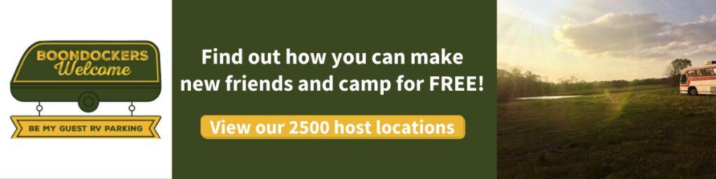Learn how to camp for free at over 2500 locations with this amazing low cost membership!