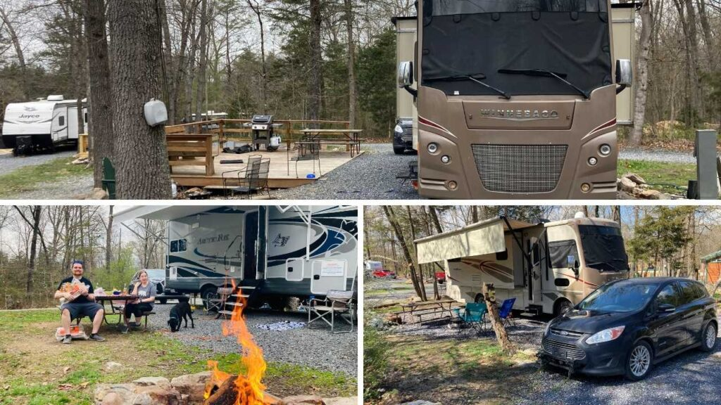 The Harrisonburg Shenandoah Valley KOA has a variety of campsites to suit any preference or budget.