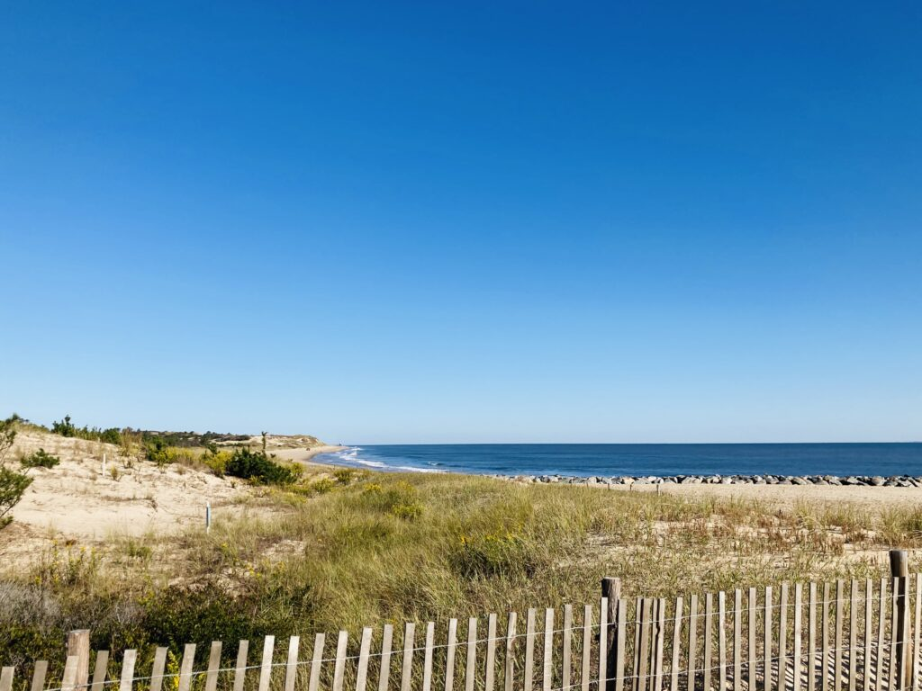 My favorite part of Cape Henlopen State Park was being so close to the ocean and the fabulous beaches. The closest beach to the campground is on the Atlantic Ocean and was about a 15 minute walk. There is parking if you want to drive. If you want to get a permit for surf fishing there are even places you can drive out on the sand. There is another beach with a large concession area and a boardwalk.