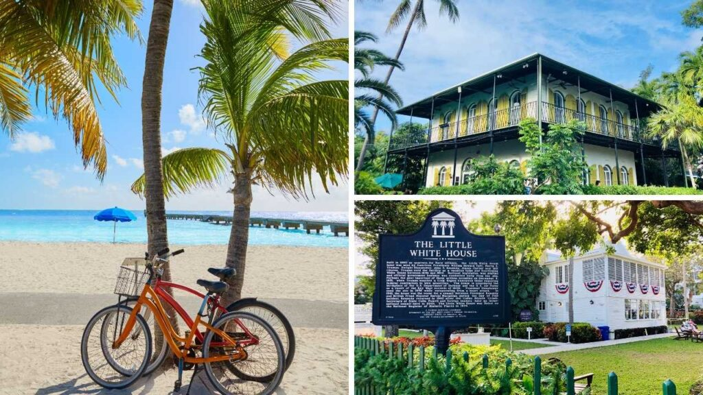 Collage of activities in Key West, Florida