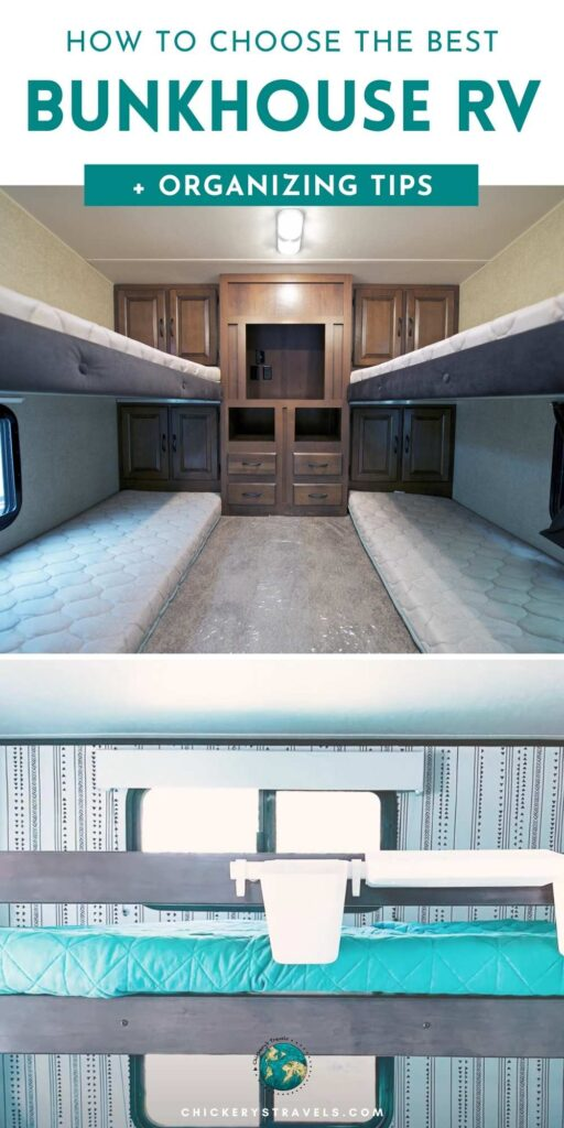 A Bunkhouse RV might just be exactly what your traveling family needs. Whether you choose a bunkhouse motorhome, fifth wheel or travel trailer, you'll have all the room you need. And bunkhouses provide amazing storage opportunities during the day. In this article we'll share the features of bunkhouse RVs and some great modifications that will help you get even more from the space.
