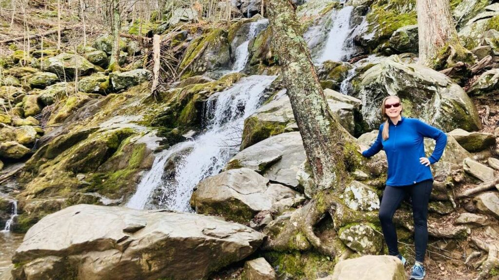 There are over 500 miles of trails in Shenandoah National Park and several lead to waterfalls.