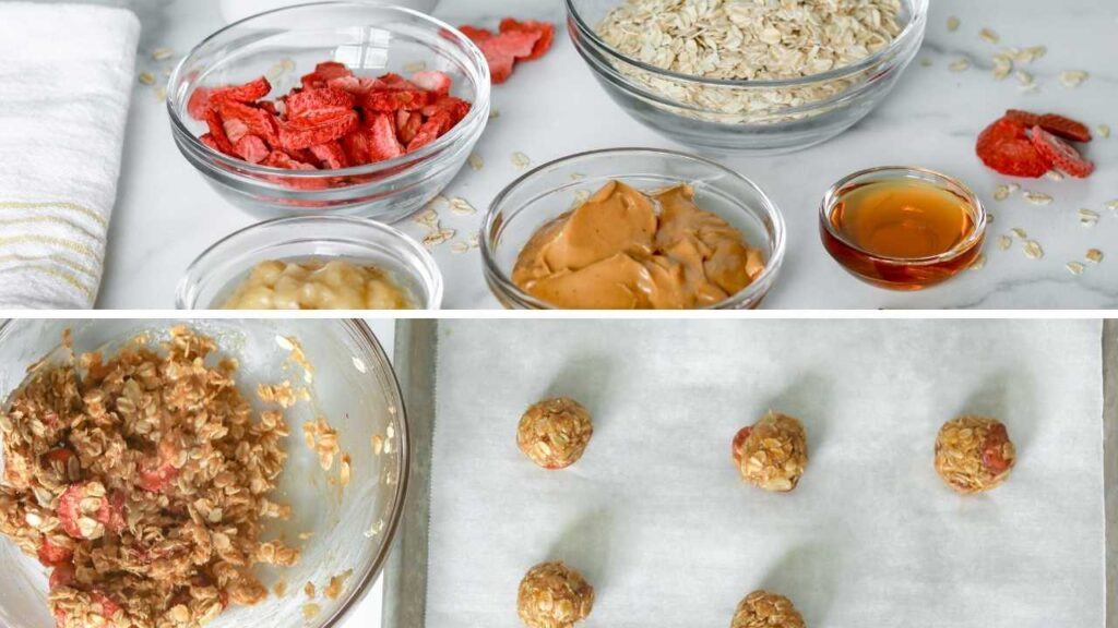 Learn how to make PB&J Energy Balls, a healthy snack.