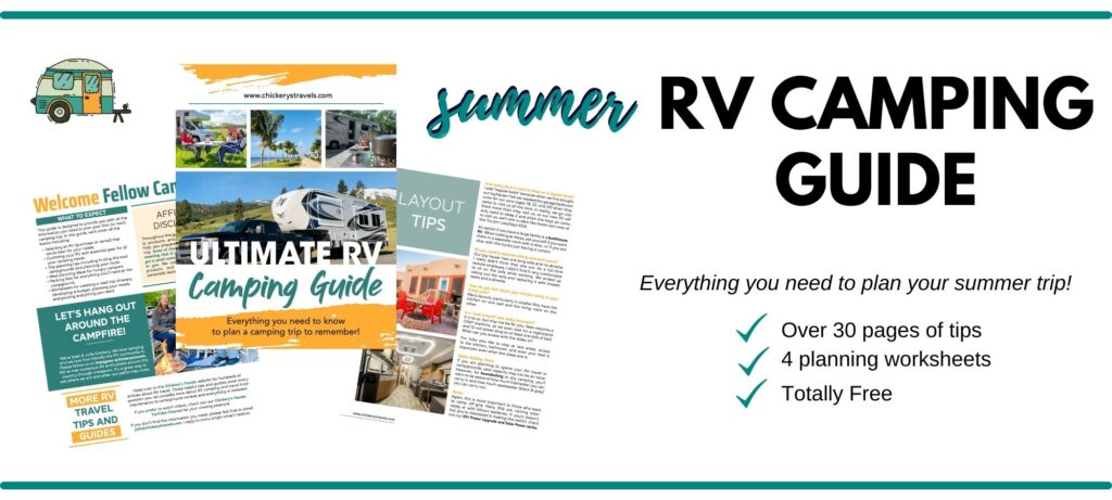 Free RV camping guide with over 30 pages of tips and worksheets
