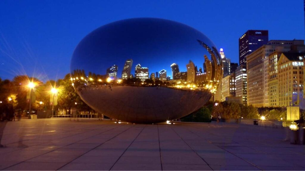 Cloud Gate, the official name for the massive, stainless steel structure that's become Chicago's signature landmark.