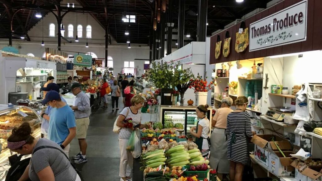 Lancaster Central Market, the oldest, continuously running public farmers' market in the country.